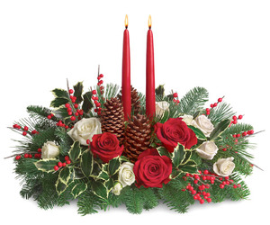 WINTER HOLIDAY CENTERPIECE from Lewis Florist in Grayslake, IL