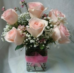 Pretty in Pink Cubed ! from Lewis Florist in Grayslake, IL