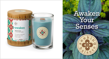 Seeking Balance Awaken Holistic Candle from Lewis Florist in Grayslake, IL