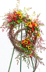Double Wreaths from Lewis Florist in Grayslake, IL