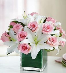 Elegant Pink and White from Lewis Florist in Grayslake, IL