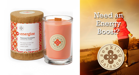 Seeking Balance Energize Holistic Candle from Lewis Florist in Grayslake, IL