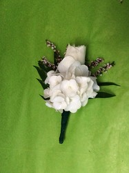 Classy white & Black from Lewis Florist in Grayslake, IL
