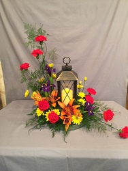 Adorned Lantern from Lewis Florist in Grayslake, IL