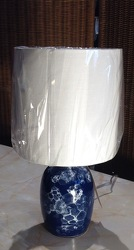 Blue Marble Base Table Lamp from Lewis Florist in Grayslake, IL
