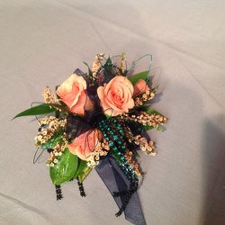 Peach and Teal from Lewis Florist in Grayslake, IL