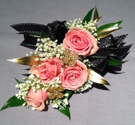 Pink Gold Black from Lewis Florist in Grayslake, IL