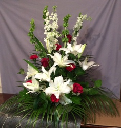 Basket Floral Tribute from Lewis Florist in Grayslake, IL