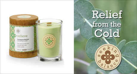 Seeking Balance RELIEVE  Holistic Candle from Lewis Florist in Grayslake, IL