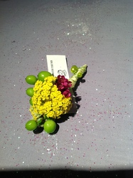Yellow Yarrow Boutonniere from Lewis Florist in Grayslake, IL