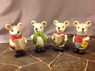 Bundle of 4 mice  from Lewis Florist in Grayslake, IL