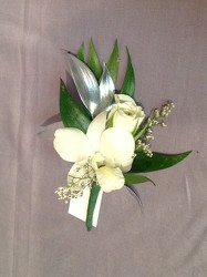 Classy white and Silver from Lewis Florist in Grayslake, IL