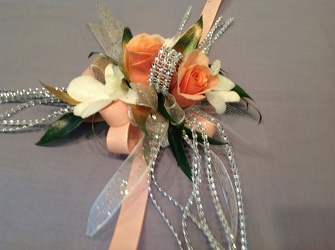 Blingy Peach and White from Lewis Florist in Grayslake, IL