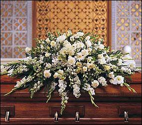 Deluxe Pure White Casket from Lewis Florist in Grayslake, IL
