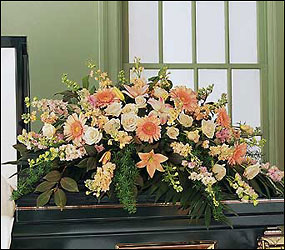 Peach Comfort Half-Couch from Lewis Florist in Grayslake, IL