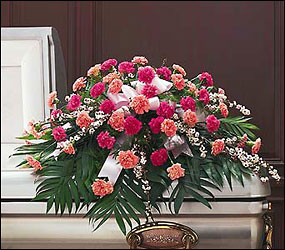 Delicate Pink Casket Spray from Lewis Florist in Grayslake, IL