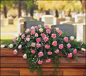 Heavenly Pink Casket Spray from Lewis Florist in Grayslake, IL