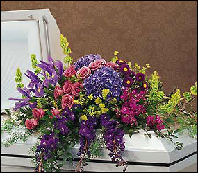 Graceful Tribute Casket Spray from Lewis Florist in Grayslake, IL
