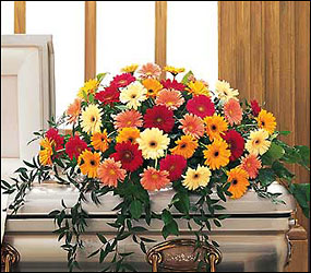 Uplifting Thoughts Casket Spray from Lewis Florist in Grayslake, IL