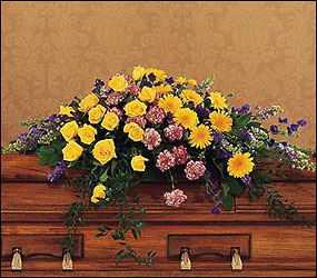 Eternal Hope Casket Spray from Lewis Florist in Grayslake, IL