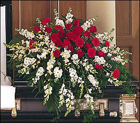 Cherished Moments Casket Spray from Lewis Florist in Grayslake, IL