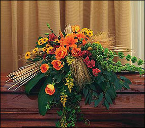 Autumn Faith Casket Spray from Lewis Florist in Grayslake, IL