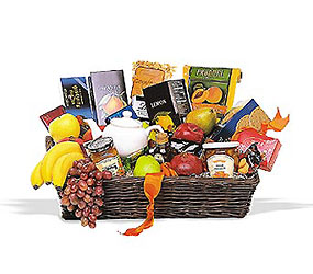 Grande Gourmet Fruit Basket from Lewis Florist in Grayslake, IL