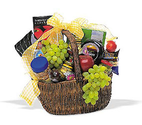 Gourmet Picnic Basket from Lewis Florist in Grayslake, IL