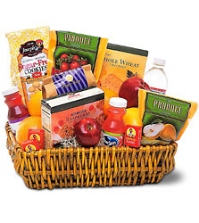 Healthy Gourmet Basket from Lewis Florist in Grayslake, IL