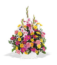 Vibrant Spring Remembrance  from Lewis Florist in Grayslake, IL