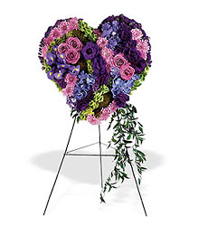 Graceful Tribute Heart from Lewis Florist in Grayslake, IL