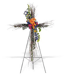 Birch Compassion Cross from Lewis Florist in Grayslake, IL