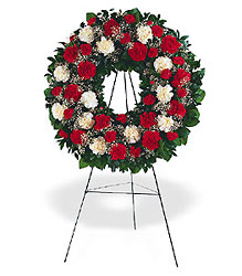 Hope and Honor Wreath from Lewis Florist in Grayslake, IL