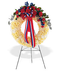 Patriotic Spirit Wreath from Lewis Florist in Grayslake, IL