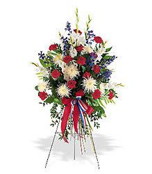 Patriotic Spirit Spray from Lewis Florist in Grayslake, IL