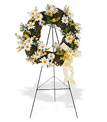 Drop of Sunshine Wreath from Lewis Florist in Grayslake, IL