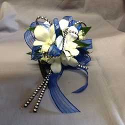 White Blue Bling from Lewis Florist in Grayslake, IL