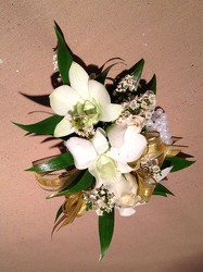 White and Gold from Lewis Florist in Grayslake, IL